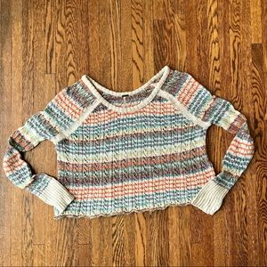 Free People Lost in the Forest Crop Sweater